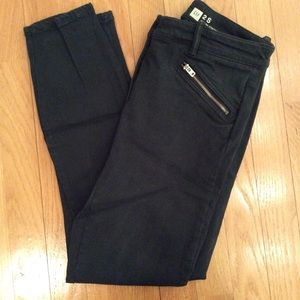 Dark green Stretch skinny jeans